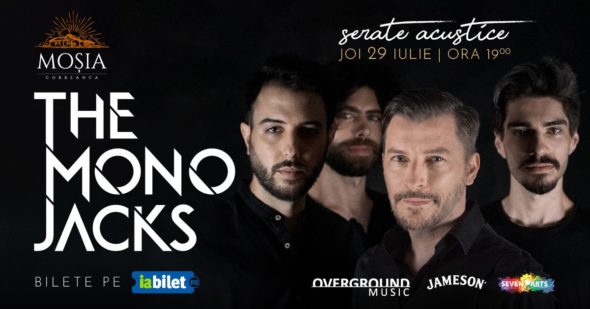 banner cu formatia the mono jacks pentru concert mosia corbeanca